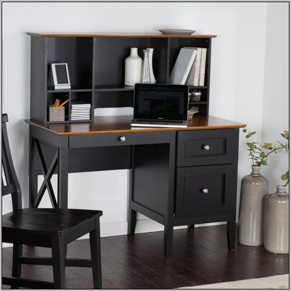 Small Black Desk With Drawers Desk Home Design Ideas