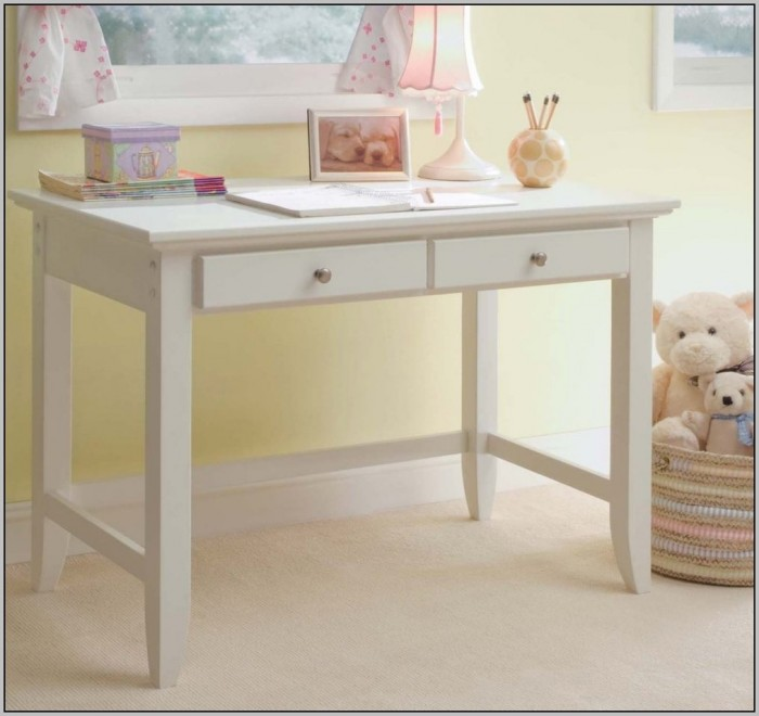 Small Desk With Drawers White