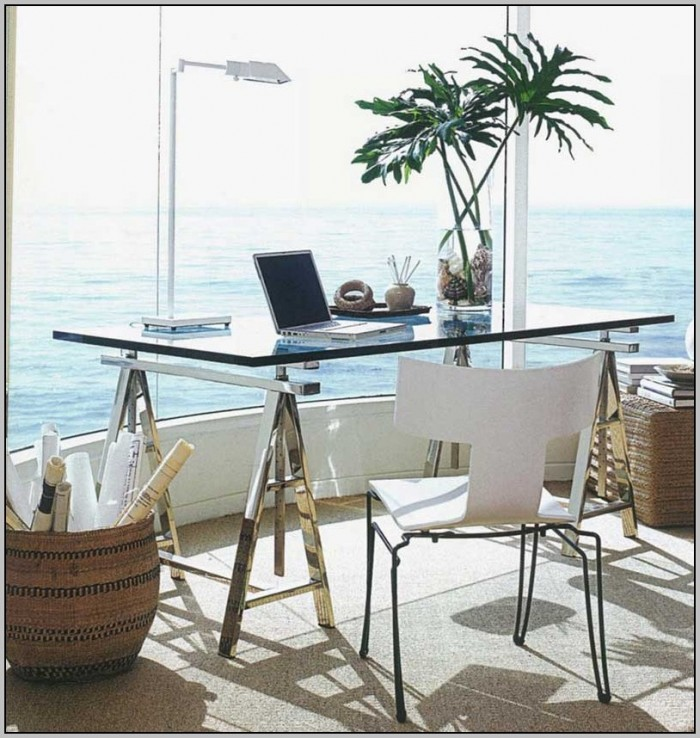 Small Glass L Shaped Desk
