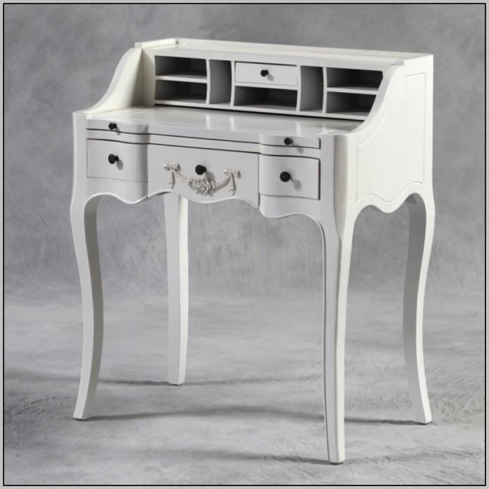 Vintage Writing Desk White