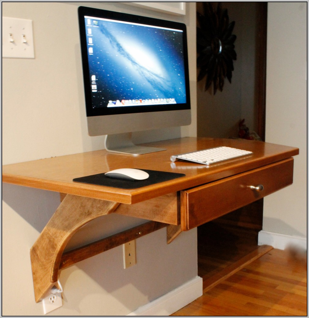 Wall Mounted Computer Desk Ikea Desk Home Design Ideas