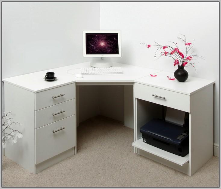 White Corner Desk With Drawers Desk Home Design Ideas