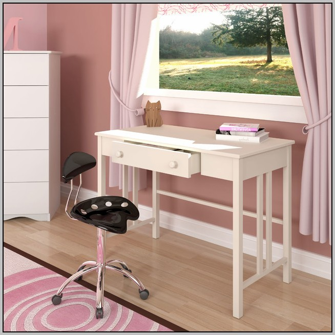 White Desk With File Drawer
