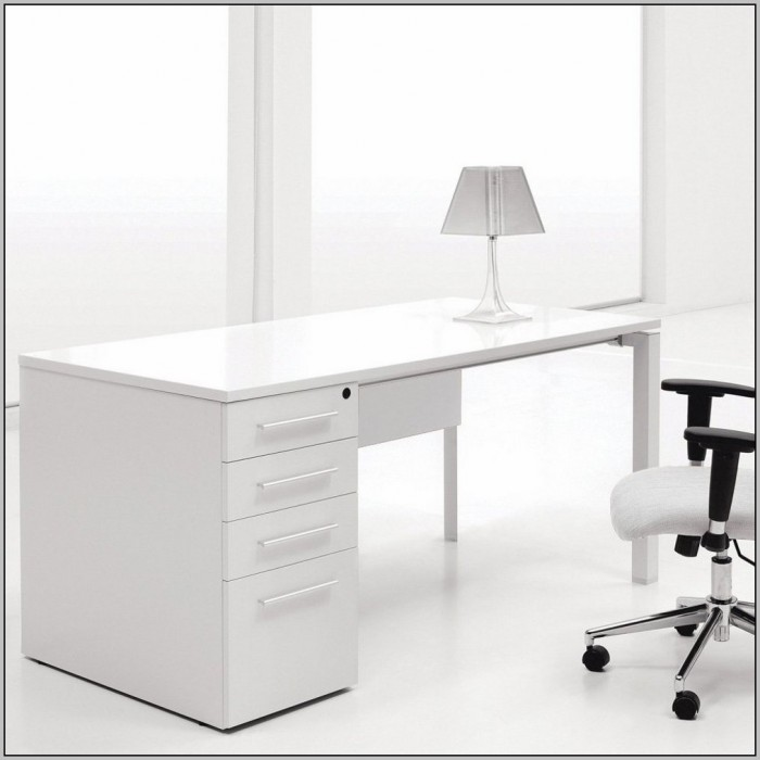 White Ikea Desk With Hutch