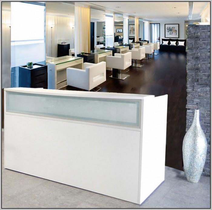 White Reception Desk Salon