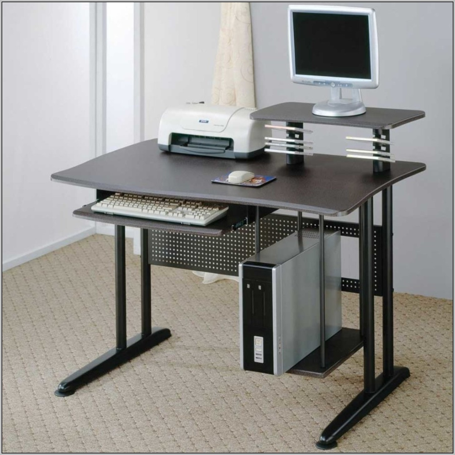 Wood computer desks for small spaces download page home design ideas galleries home design - Small wooden computer desks for small spaces concept ...