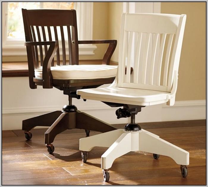 Wood Desk Chair Wheels