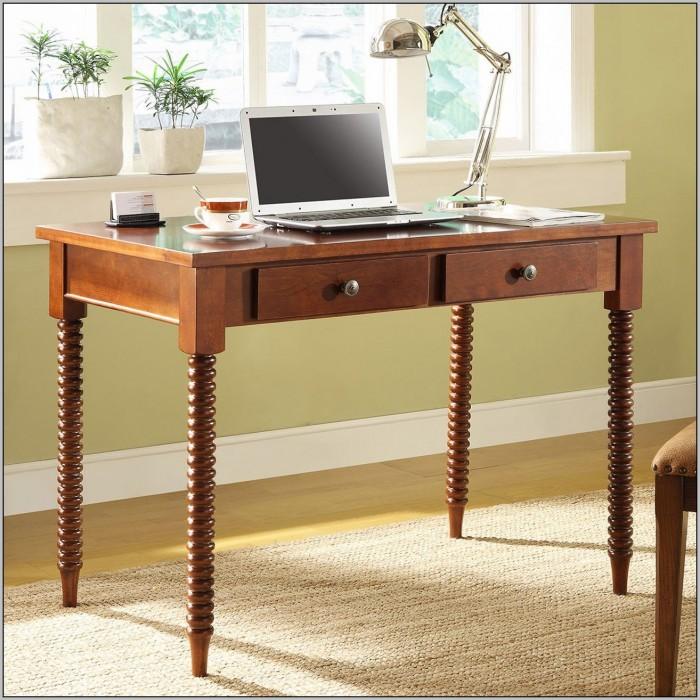 Wood Writing Desk With Metal Legs