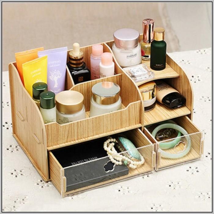 Wooden Desk Organizer Box