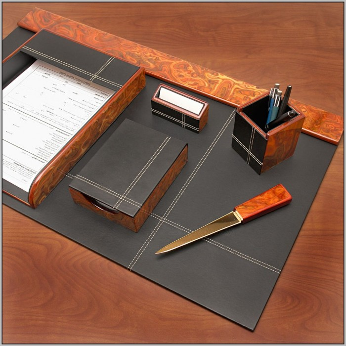 Wooden Desk Organizer Set