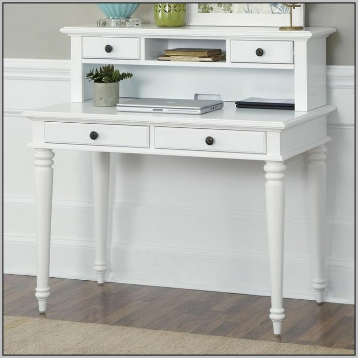 White Writing Desk With Hutch Solid Wood Desk With Hutch