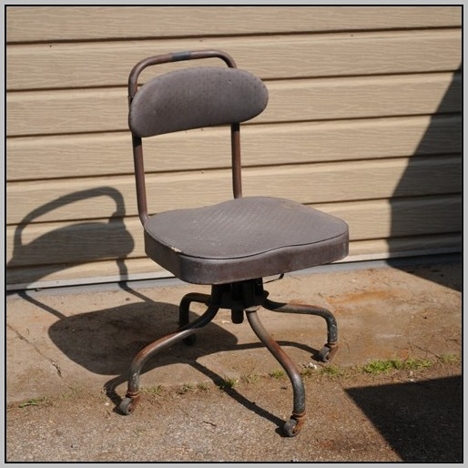 Armless Desk Chair No Wheels