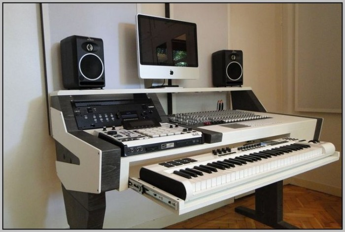 Audio Workstation Desk Diy Desk Home Design Ideas