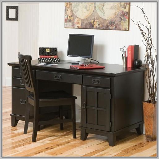 Black Corner Secretary Desk