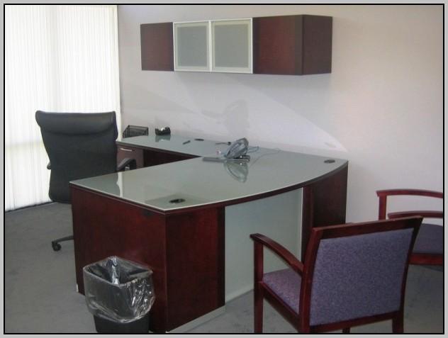 Black L Shaped Reception Desk