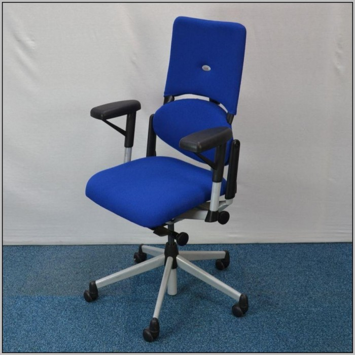 Blue Office Chair No Arms