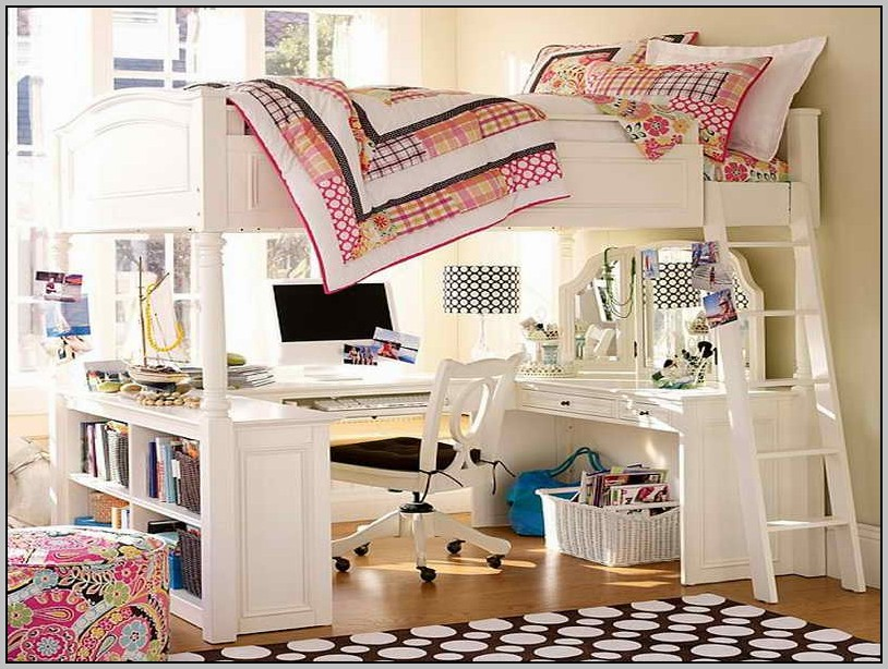 Bunk Beds With Desk Underneath Ikea Desk Home Design