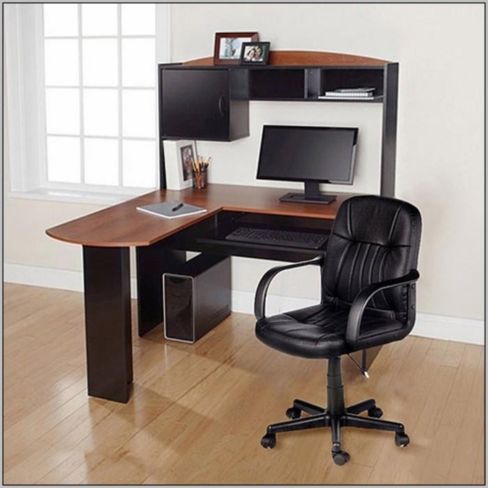 Bush Furniture Cabot L Shaped Computer Desk With Hutch