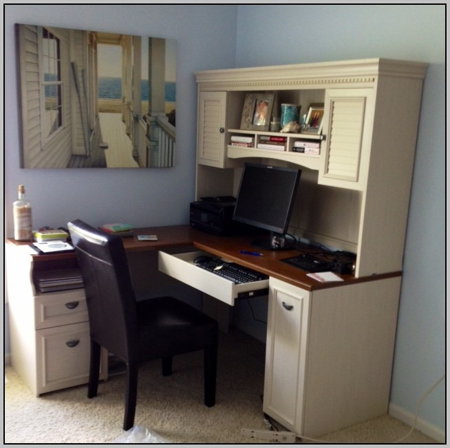 Bush Stanford Computer Desk With Optional Hutch And Filing
