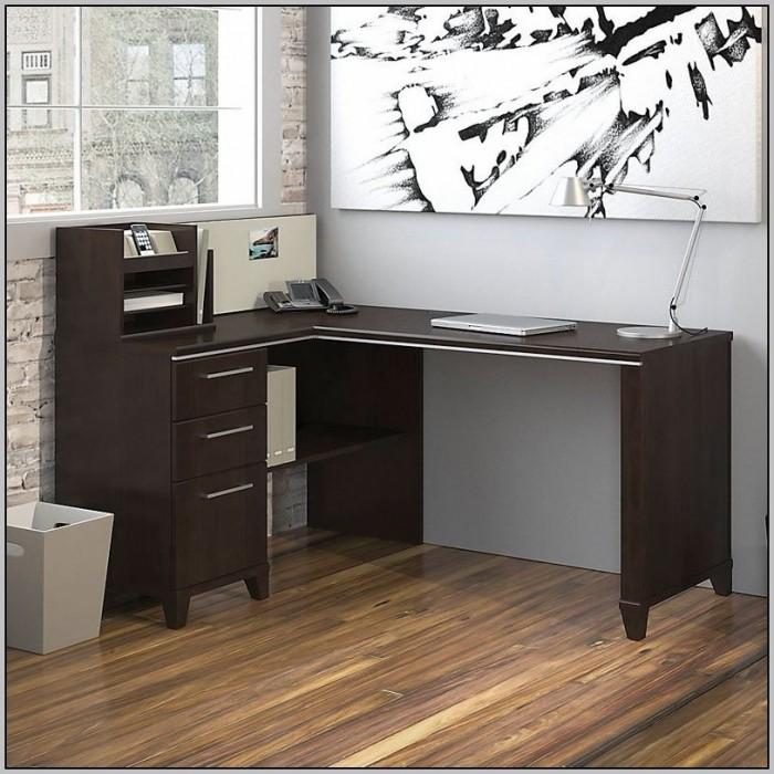 Bush Vantage Cherry Corner Desk