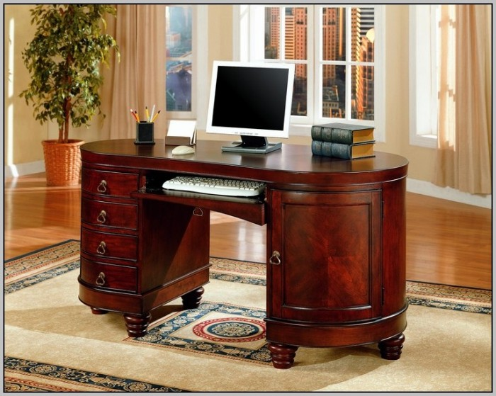 Cherry Corner Secretary Desk