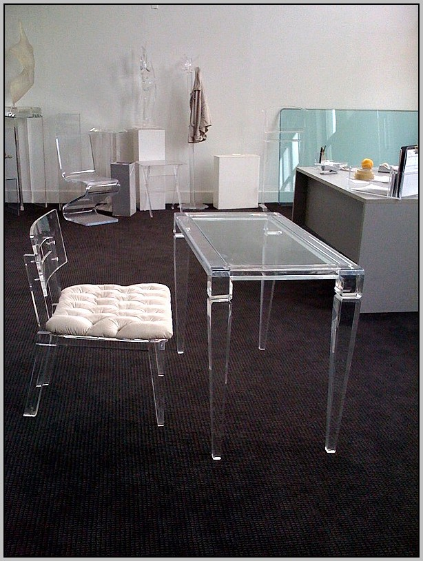 Clear Lucite Desk Chair
