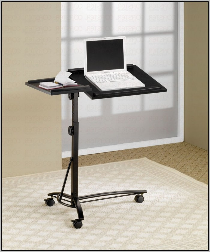 Compact Computer Desk On Wheels