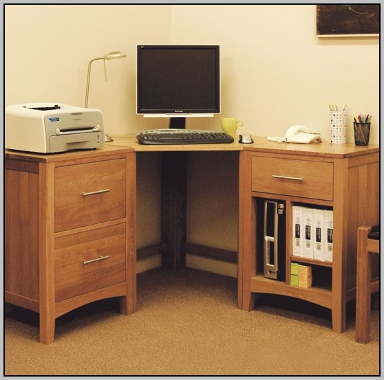 Corner Desk With File Storage