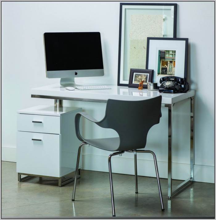 Desk Made With Filing Cabinets