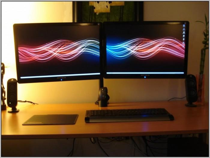 Desk Monitor Mount Dual