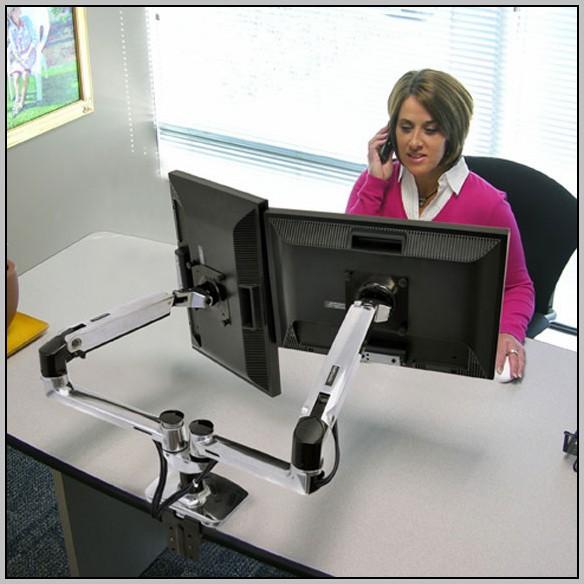 Desk Mount Monitor Arm Dual