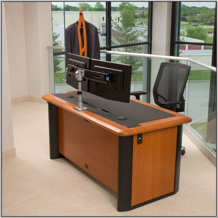 Dual Computer Monitor Desk Mount Desk Home Design
