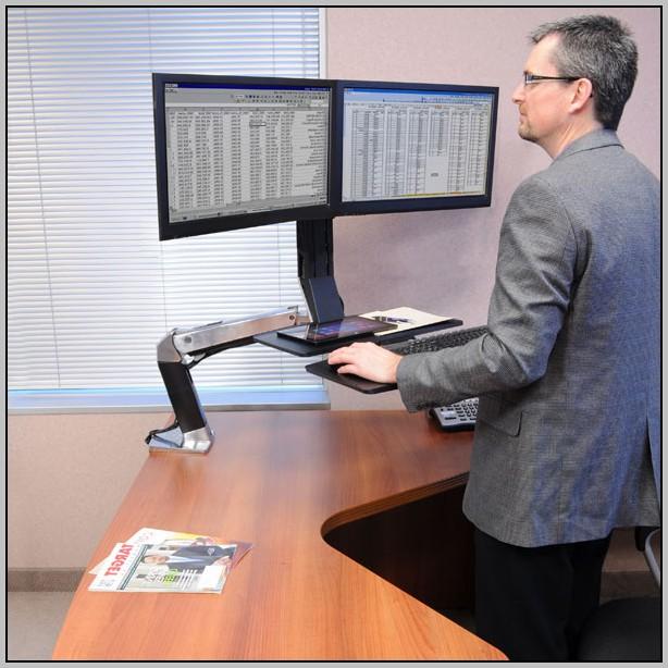 Dual Monitor Desk Mount 24
