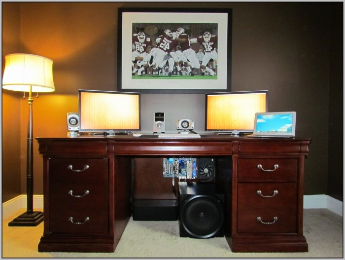 Dual Monitor Desk Mount
