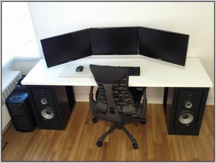 Dual Station Computer Desk