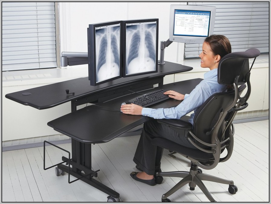 Dual Surface Multiple Monitor Computer Desk Download Page