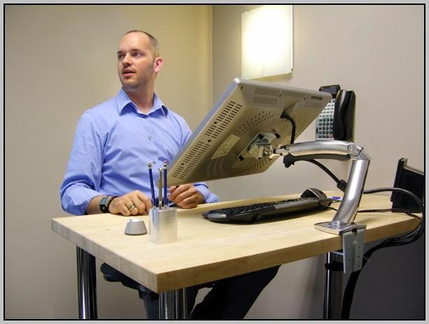 Ergotron Lx Hd Sit Stand Desk Mount Lcd Arm