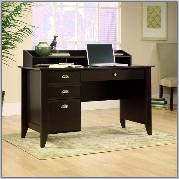 Espresso Computer Desk With Hutch Bush Cabot L Shaped