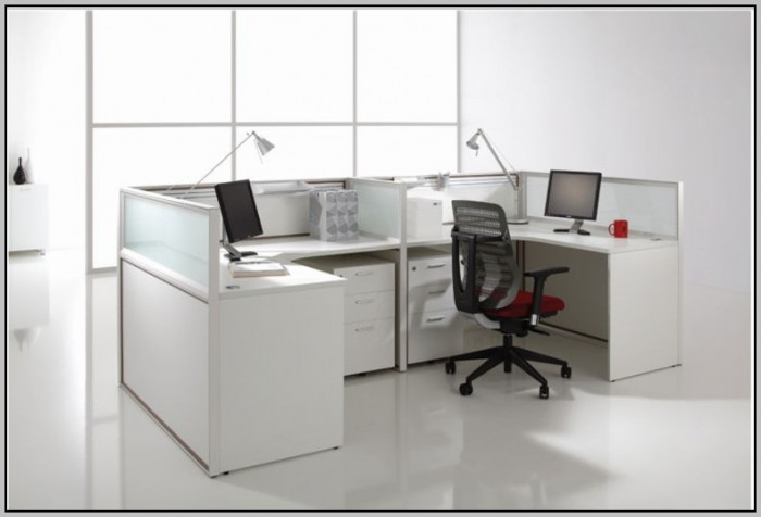 Frosted Glass Desk Dividers