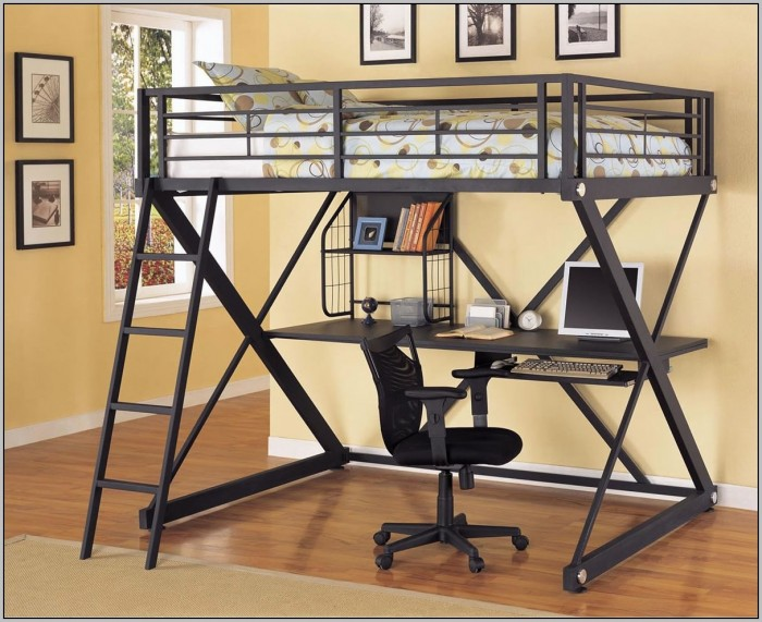 Twin Size Bed And Desk Combo Desk Home Design Ideas