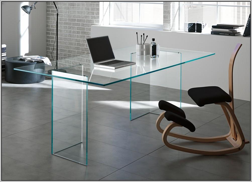 Glass Top Office Desk Ikea Desk Home Design Ideas