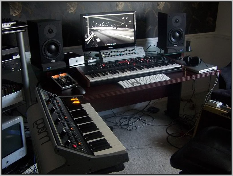 Home recording studio desk design desk home design for Home recording studio plans