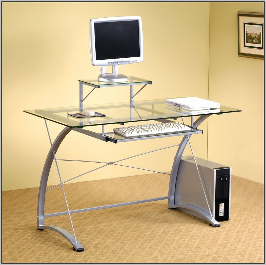 Ikea Glass Top puter Desk Desk Home Design Ideas