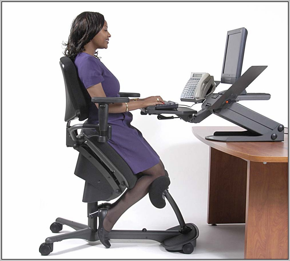 Kneeling Office Chair With Back Desk Home Design Ideas
