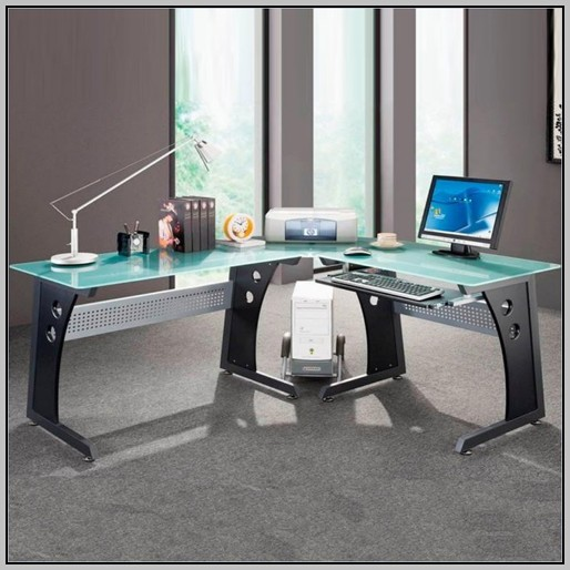 L Shaped Desks Glass