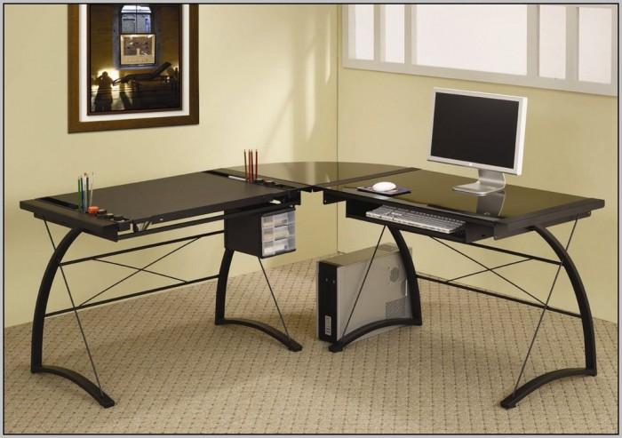L Shaped Glass Computer Desk Canada