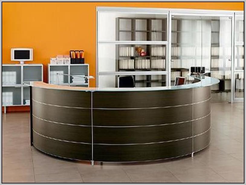 L Shaped Reception Desk Dimensions Desk Home Design