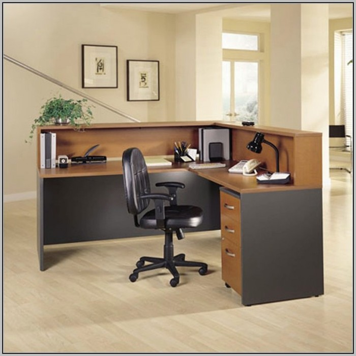 L Shaped Reception Desk With Hutch