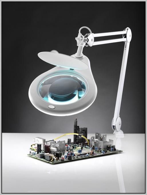 Led Magnifying Desk Lamp Desk Home Design Ideas