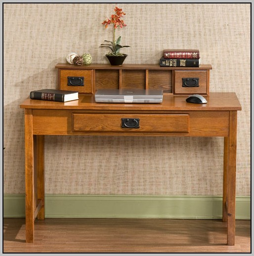 Mission Style Oak Computer Desk